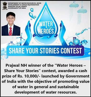 Winner of Water Heroes - Prajwal NH