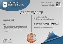 Python Certificate PCEP pic