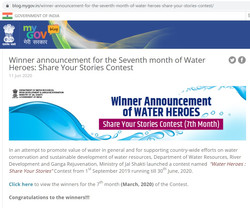 Website Results of Water Heroes - MyGov