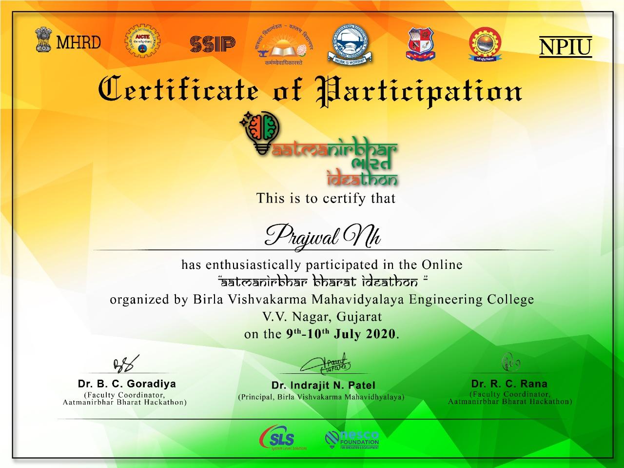 Athmanirbhar Bharath Ideathon Challenge