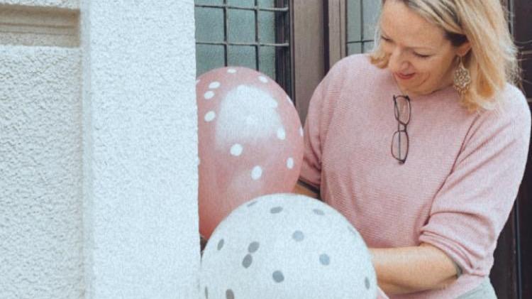 Ballons am Eingang