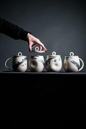 Lidded Thumbprint Mug Set
