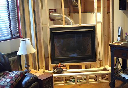 Fireplace, Renovation, Fireplace Mantle, Framed Wall, Gas Fireplace Installation