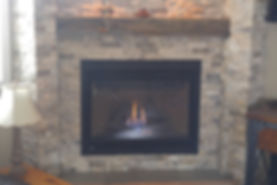 Gas Fireplace Install, Completed Gas Fireplae Installation, Fireplace Tiled