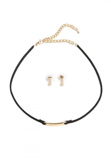 Bar Choker and Earring Set