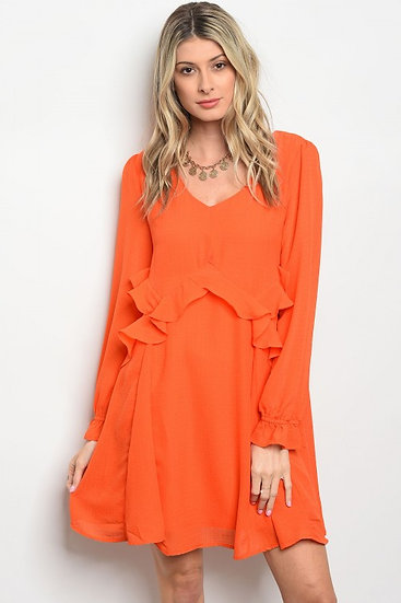 Orange Ruffle Dress