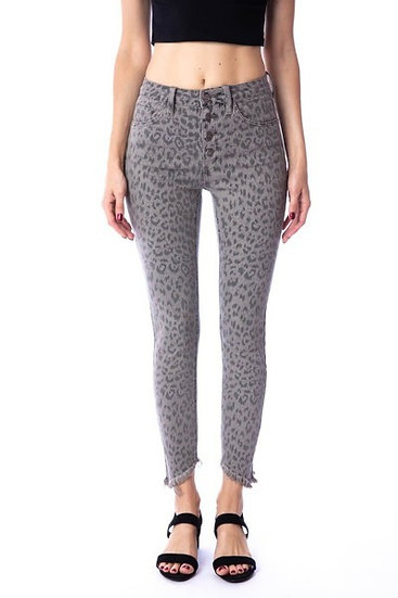 Grey Leopard Jeans
