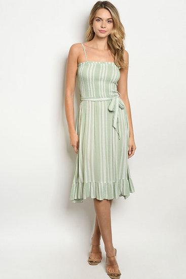 Sage Stripe Dress
