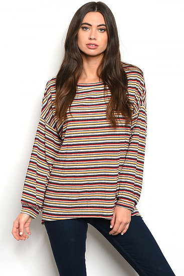 Multi Color Striped Top