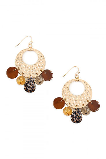 Leopard Hammer Earrings