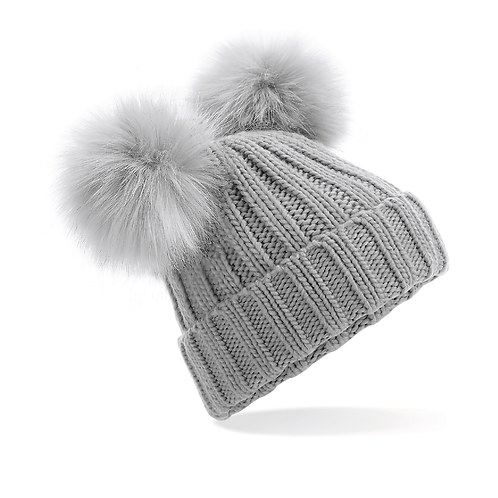 Double Bobble Beanie