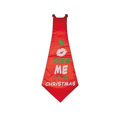 Large 'Kiss Me' Tie