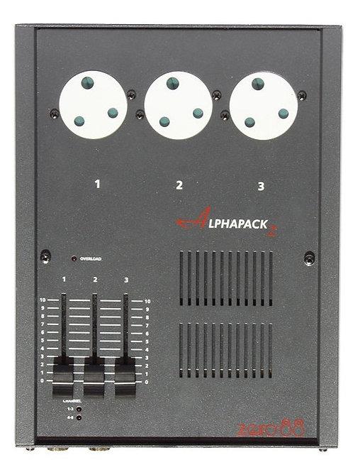 TWIN PACK - Zero 88 Alphapack 2 Dimmer