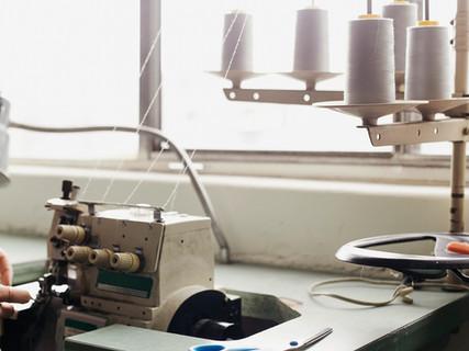 Corte, costura, passadoria
