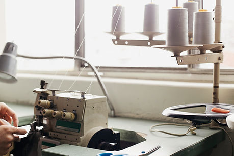 A clothing sample maker at work in NYC