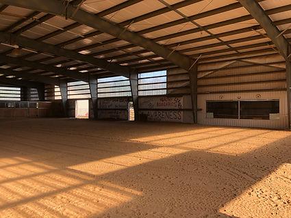 Horse arena at Spirit's Whisper Ranch
