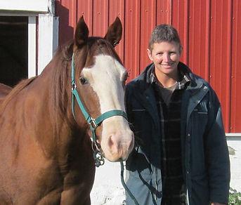 Kristi and founding horse Spirit - Spirit's Whisper Ranch