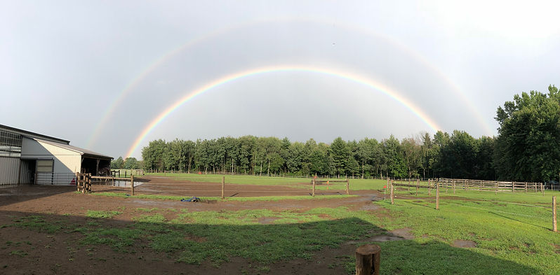 Spirit's Whisper Ranch and double rainbow