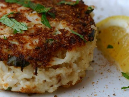 Crab Cake Entree includes sides