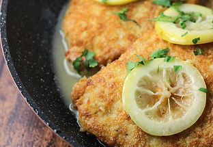 Pork Chops Romano in Lemon-Butter Sauce.