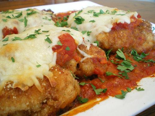 Chicken Parmesan Entree w/ pasta & green bean side
