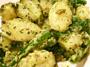 Potato Gnocchi with Pitachio Pesto and G