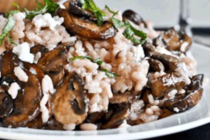 Mushroom Asparagus Orzo 6 Servings