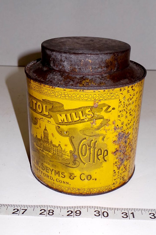 Capitol Mills Pure Coffee Tin Mfg By Lincoln Seyms Co