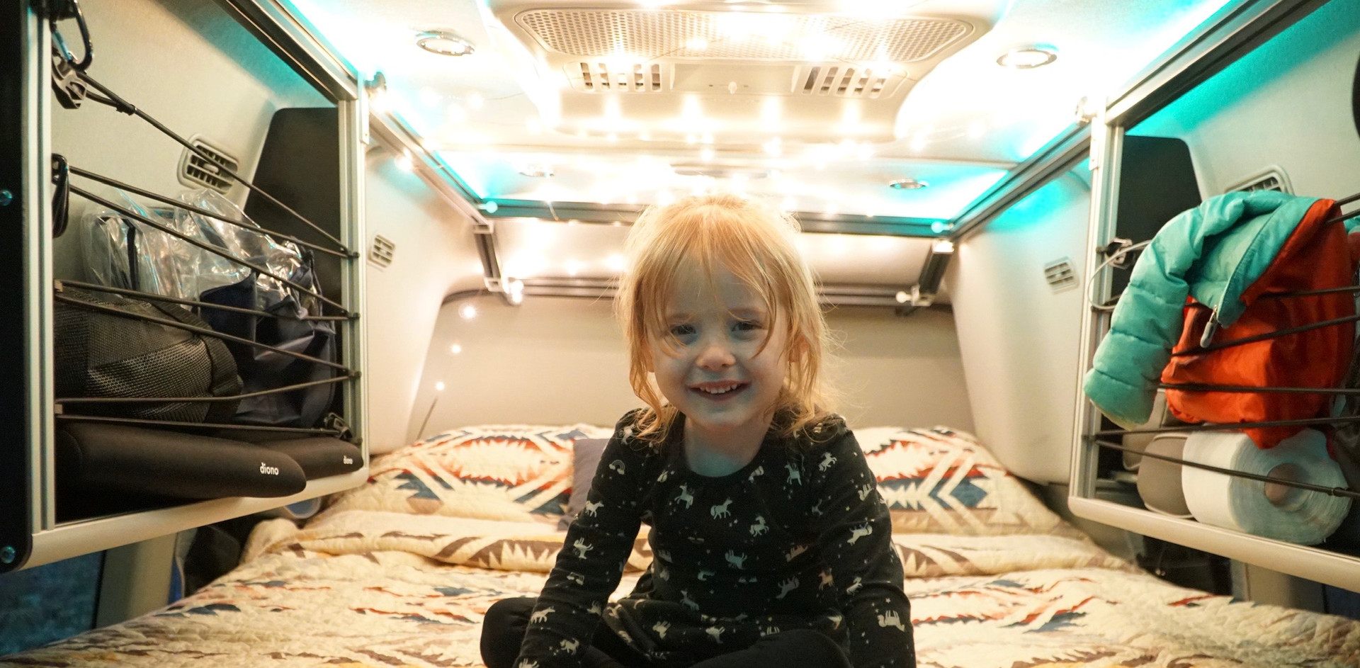 Campout in the van!