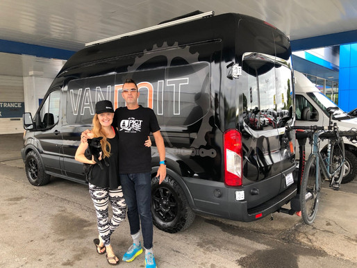 Meet the Bible's, traveling the continent in a VanDOit Ford Transit Camper Van with their baby