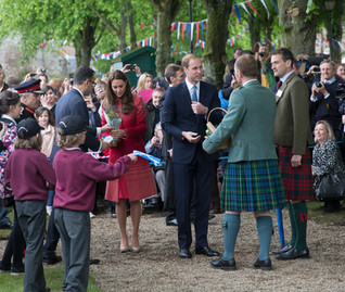 Prince William, Earl of Strathearn and Kate Middleton Countess of Strathearn in Forteviot 29/05/2014