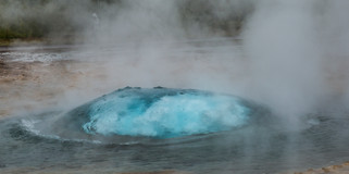 Geysir about to blow