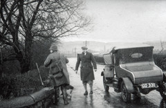 My Dad has written on the slide - Bertie Armstrong with old car.  He doesn't say which one is Bertie.
