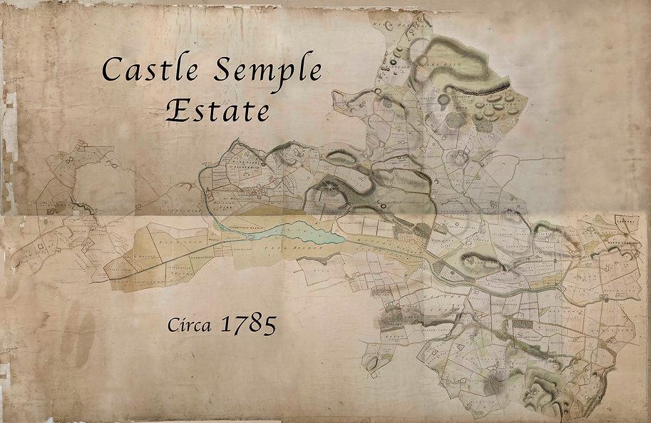 Map of Castle Semple Estate 1785