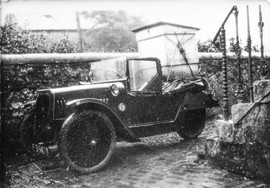 Bertie Armstrongs car at the drive of his mothers house in Johnshill.