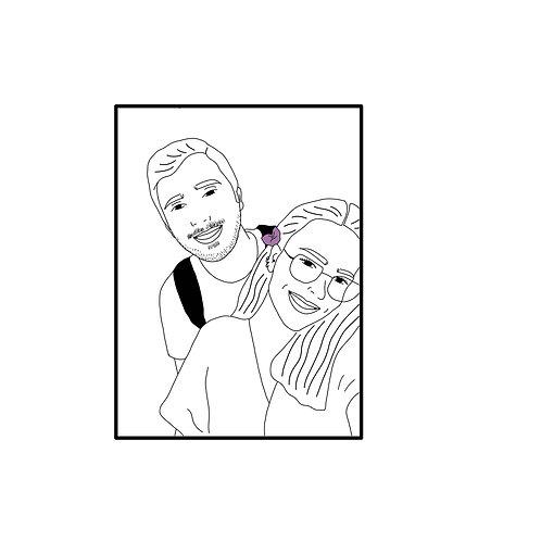 Renksiz Dijital Çizim (Mail ile gönderilir)
