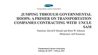 Jumping through government hoops