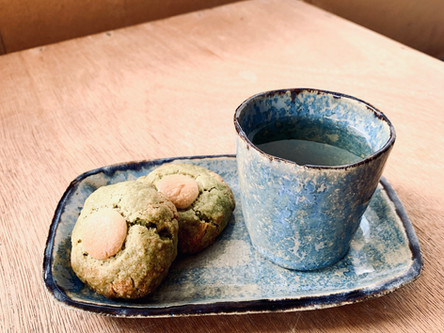 Cookies chocolat blanc au thé Matcha