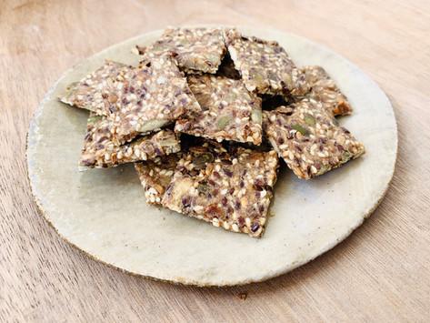 Crackers apéritifs au seigle et graines
