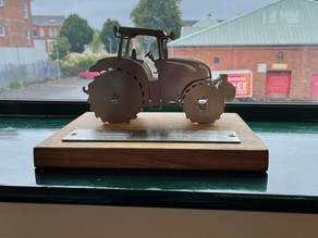 Trophy for machinery handling highlights farm safety