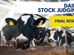 YFCU Dairy stock Judging Final Results 2021