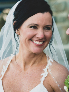 Radiant bride, happy and in love.