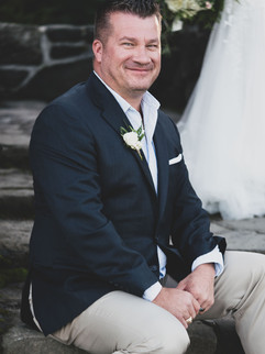 Groom as happy as can be.