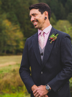 Stealing a moment from the happy groom during the ceremony.