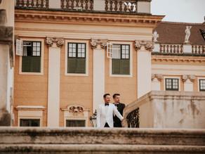 David & Tom Wedding Day, Barock Pavillon and Schonbrunn, Vienna