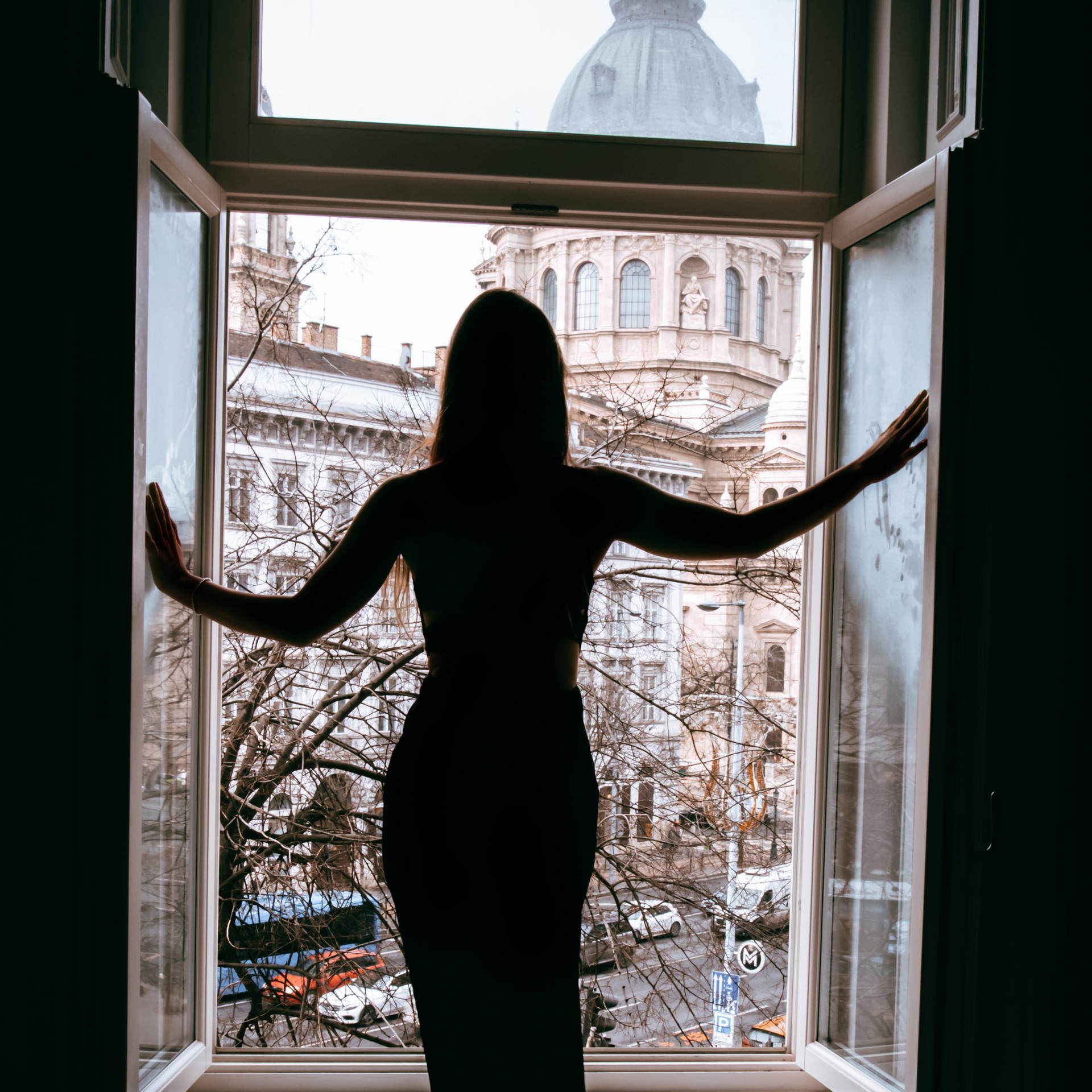 Solo female photoshoot in Budapest flat