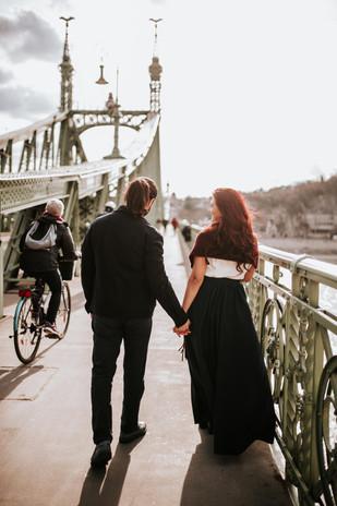 Liberty Bridge Romantic Surprise Proposal, Budapest Hungary