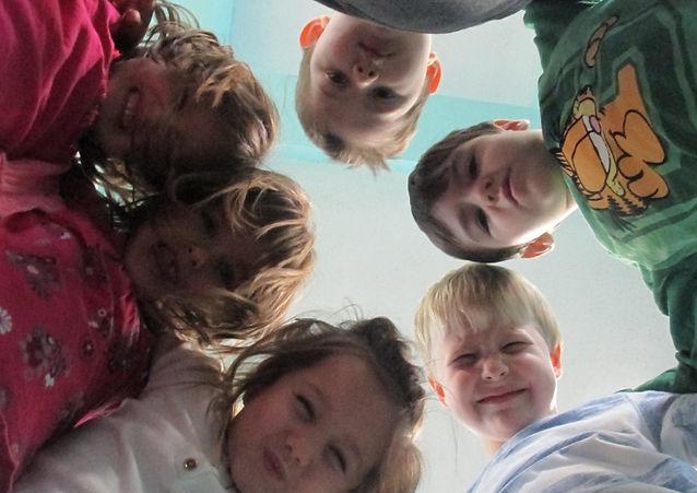 Happy kids at Little Blue Bear
