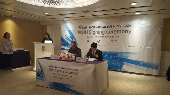 'Good to Great Business Plaza 2016' MOU 체결