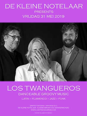 Los Twangueros mei 2019_kleine notelaar.